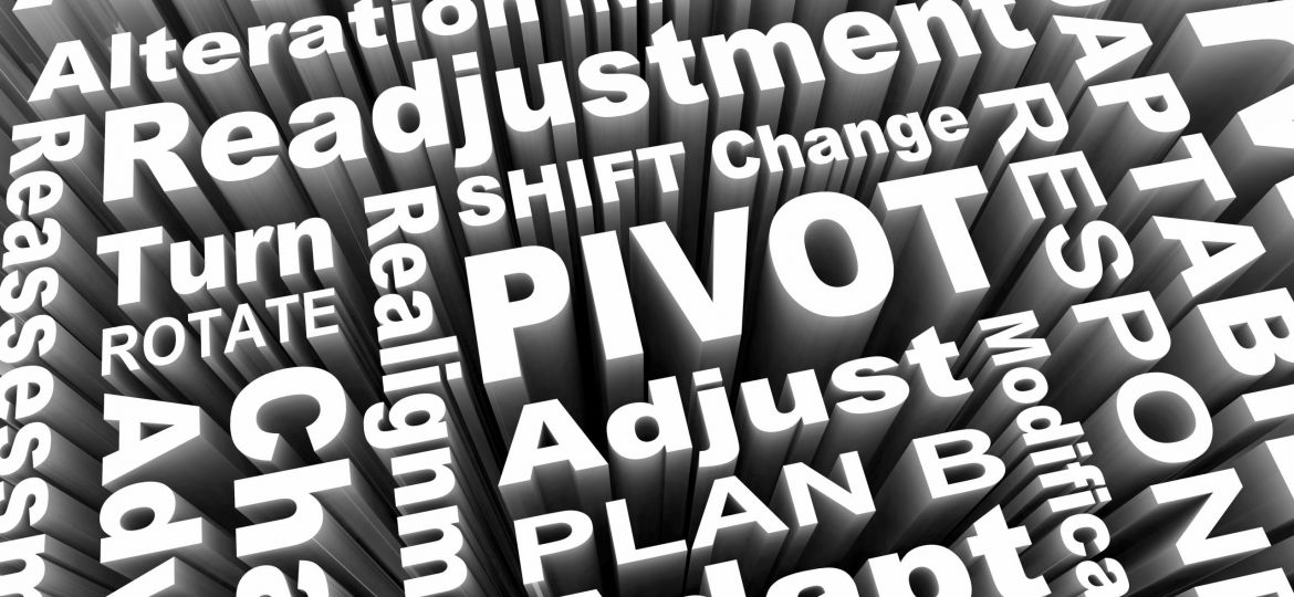 Pivot Change Turn Adjust Alter Course Words 3d Illustraion